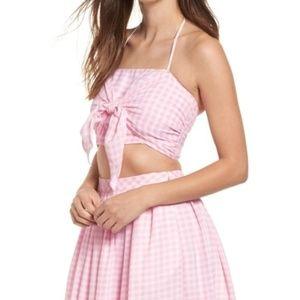 NWT Cute Pink Gingham Croptop